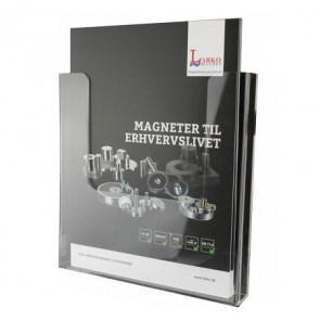Brochureholder med gummimagnet til glastavler
