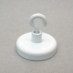 Magnetkroge i stål – hvidlakeret