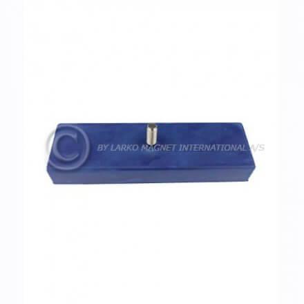Gummimagnet rektangulær - blå