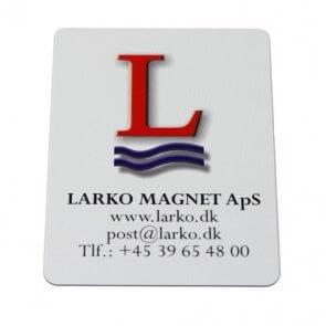 Firkantede køleskabsmagneter med logo