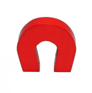 Hestesko magnet - rødlakeret
