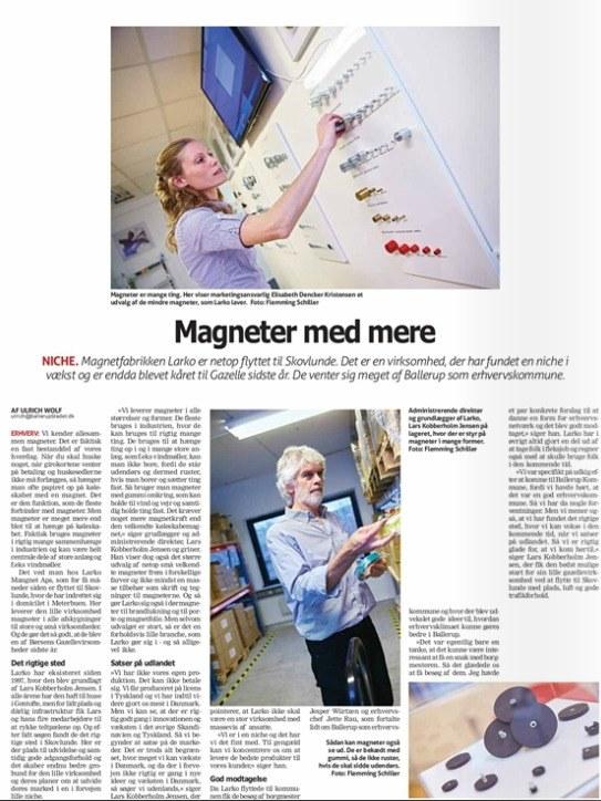 Larko Magneter i Ballerup Bladet