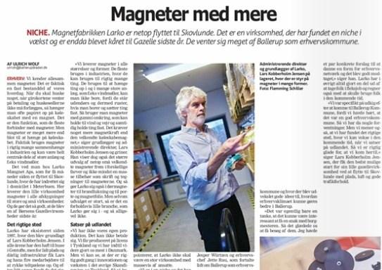 Ballerup Bladet - Larko Magneter
