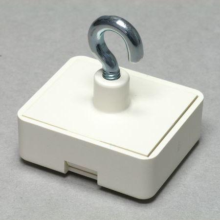 Firkantet magnetkrog i kunststof / åben krog
