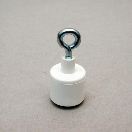 Rund magnetkrog i kunststof / lukket krog