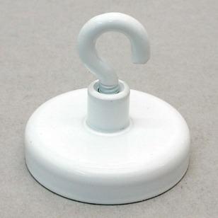 Magnetkroge i stål - hvidlakeret